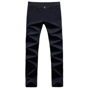 男士加绒加厚聚酯纤维滑料西装裤子