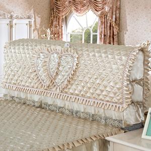 床头套防尘罩1.8m床简约夹棉拆洗软包实木保护套床头罩现代韩版