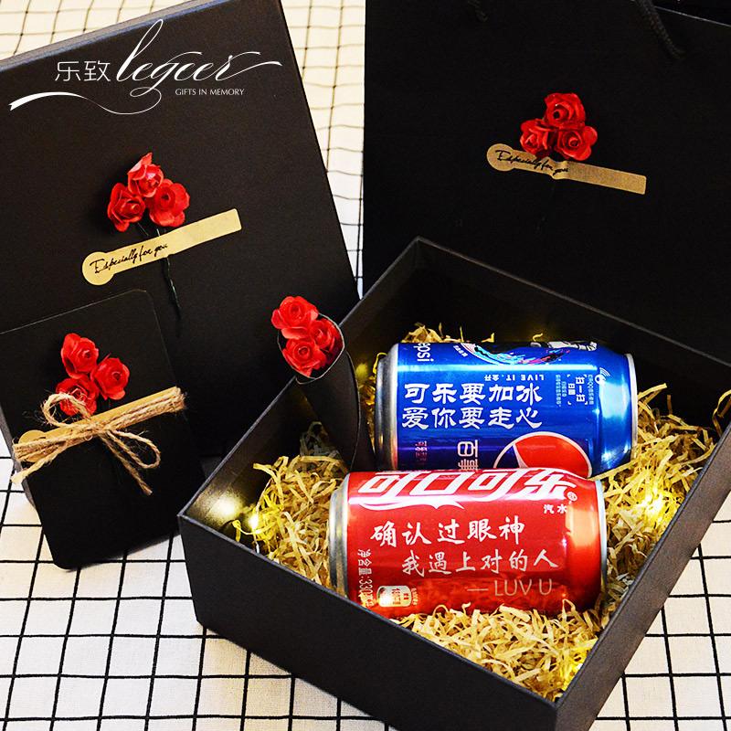 可口可乐定制易拉罐抖音网红同款生日礼物男女生可乐刻字创意礼盒