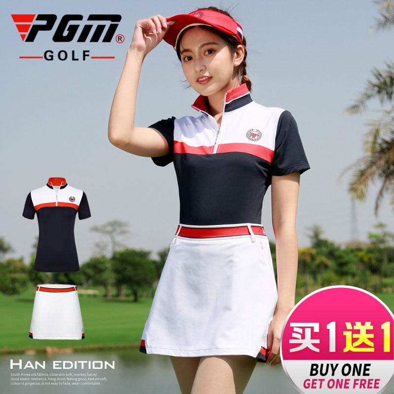 高档p 新款!高尔夫服装 女士短袖t恤 上衣+裙子 季女装套装