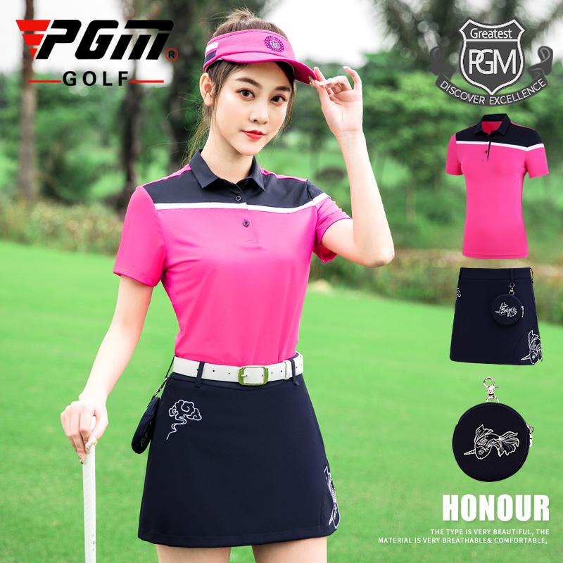 高档p 新款!高尔夫服装 季女士套装 短袖t恤 golf短裙子 送小包