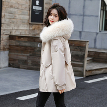 2019 new down Parke cotton padded women's short waist collection Korean version small thickening winter loose plush cotton padded clothes
