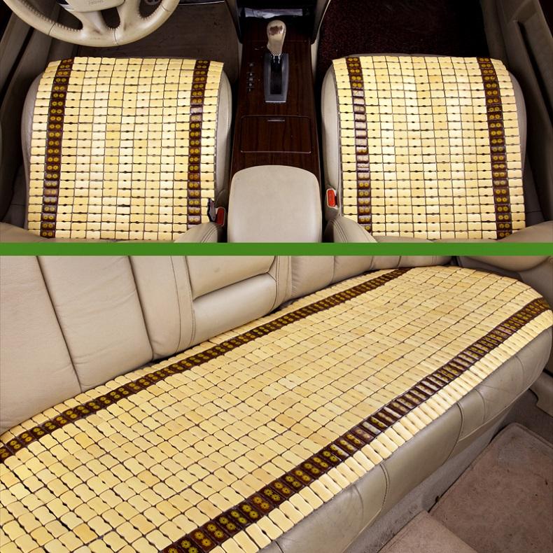 手编竹片坐垫单片夏季汽车后排座垫凉垫简约竹垫三件垫凉席带靠背12.80元包邮