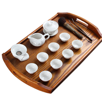 Wooden tray rectangular household bamboo tea tray Japanese tea cup plate Nordic wooden beauty salon Solid Wood Tray