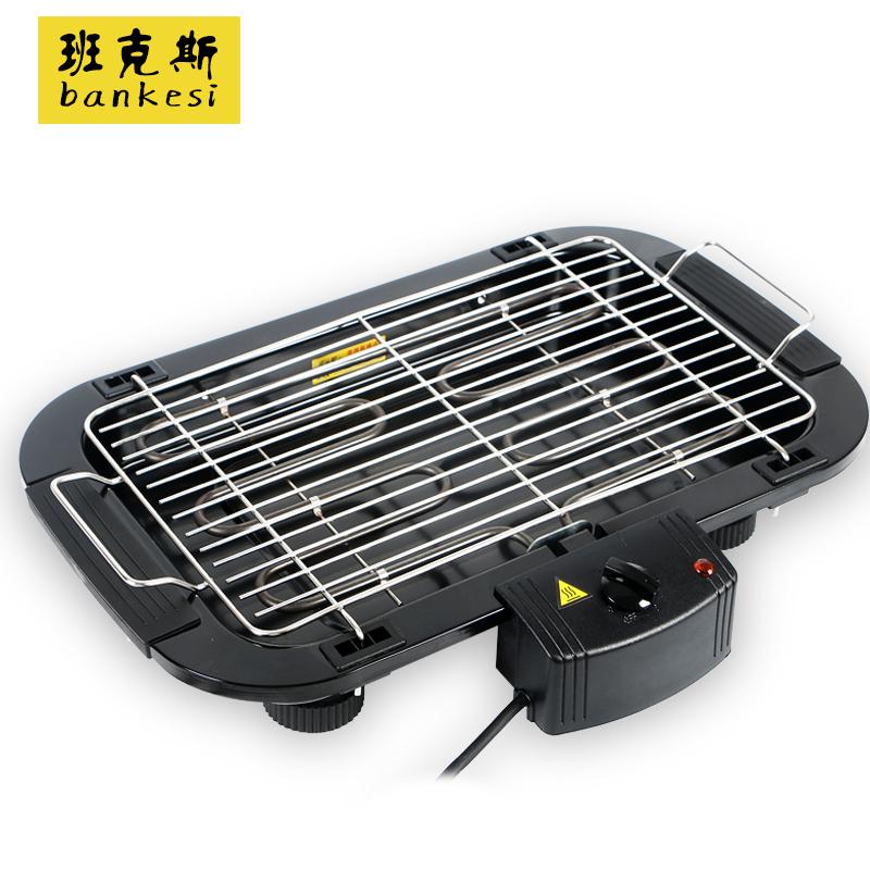 班克斯電燒烤爐商用電烤盤羊肉串電烤爐韓式家用無煙烤肉機烤架