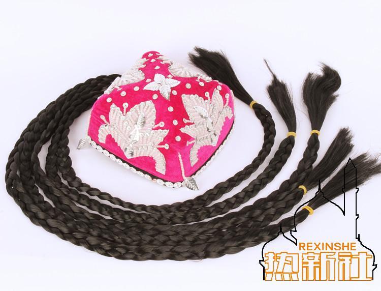 Новый Синьцзянское танцевальное представление шапка Daxuan Головной убор Scorpion Dragonfly Snow Lotus Hat Uygur Stage Hat Cap