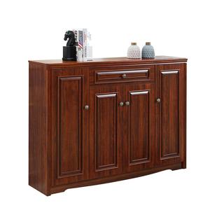 美式鄉村鞋櫃家用簡約現代三門鞋廚中式玄關櫃門廳櫃實木色儲物櫃