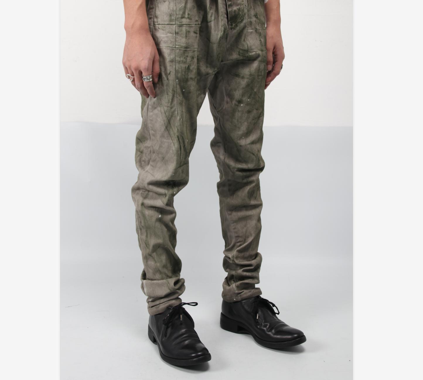 -TTULF- 重工OBJECT DYED定向染色P13型BBS风格纯棉修身款长裤