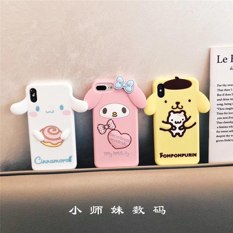 日系玉桂狗美樂蒂iPhoneXR手機殼蘋果7/8plus布丁狗XSmax硅膠6s軟