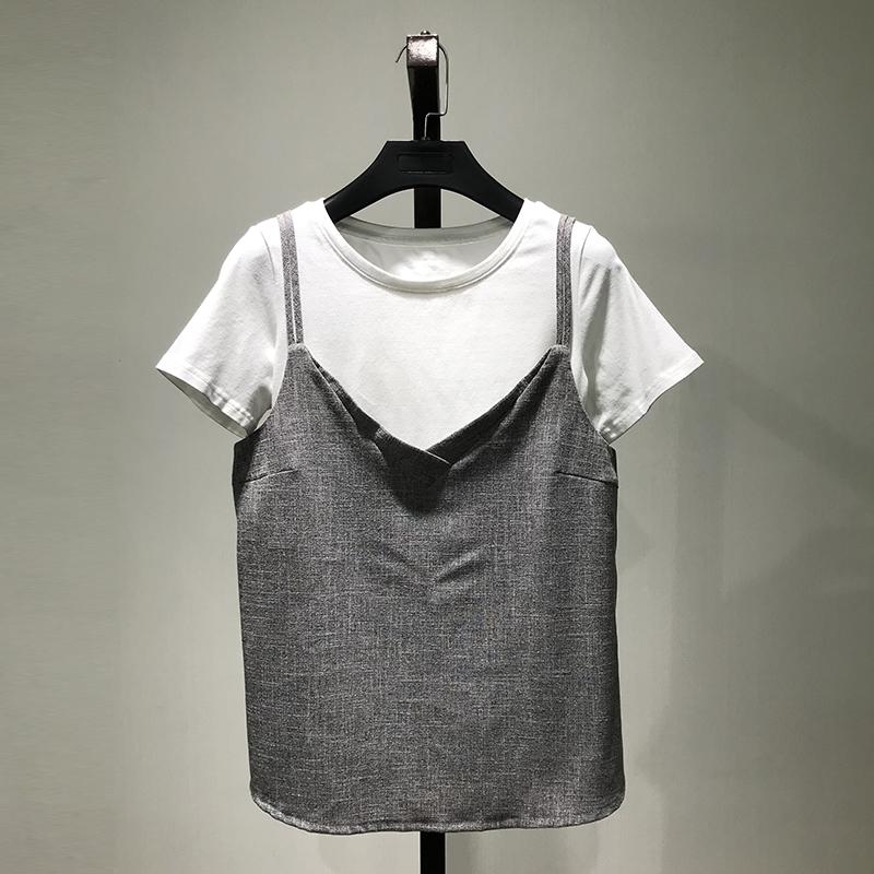 【LA】衣本品牌折扣店女装专柜正品2019夏季新款两件套T恤