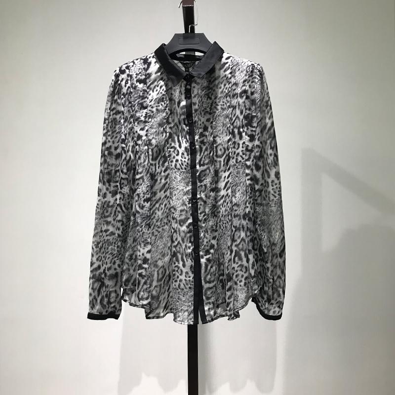 衣本折扣【KA】品牌剪标女装清仓专柜2018夏季新品长袖衬衫