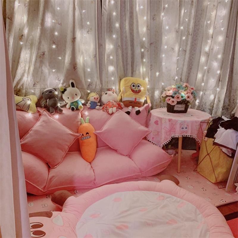 懒人沙发两用床折叠躺椅榻榻米单人双人椅网红款女卧室小户型阳台