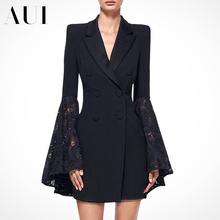 欧洲站2021春秋新款女装黑色时尚休闲小西装外套女设计感小众西服