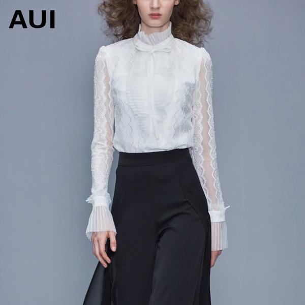 小衫2020新款女装衬衫内搭上衣女长袖白色欧货时尚洋气蕾丝打底衫图片