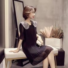 轻熟气质优雅压褶雪纺连衣裙