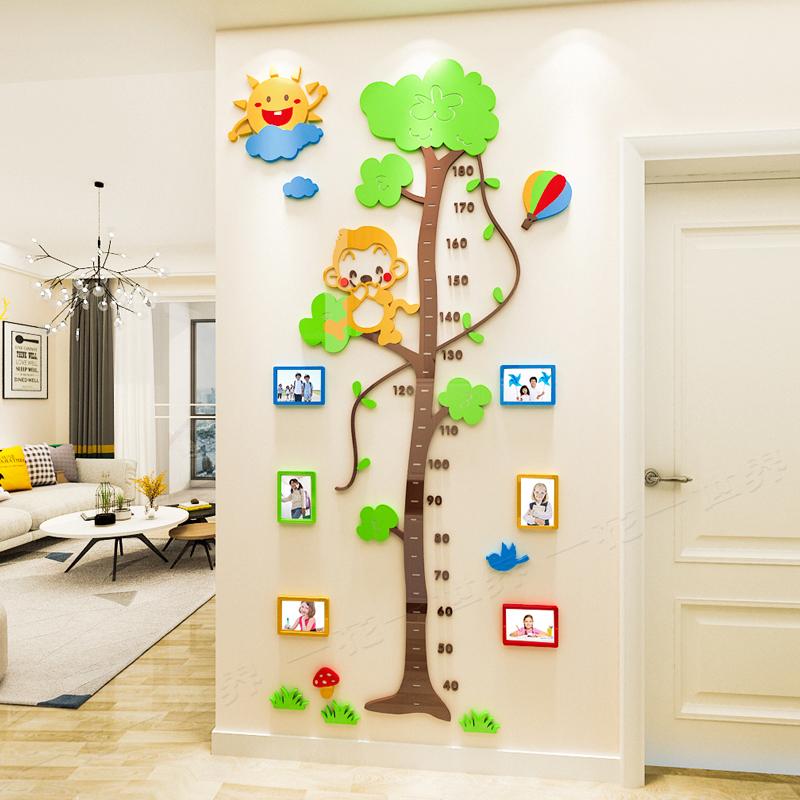 大树儿童房身高贴3d立体墙贴纸客厅幼儿园宝宝房间装饰测量身高尺