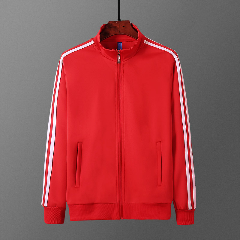 New men's and women's red coat group purchase customized leisure sports suit spring and autumn top couple's bodysuit running fitness
