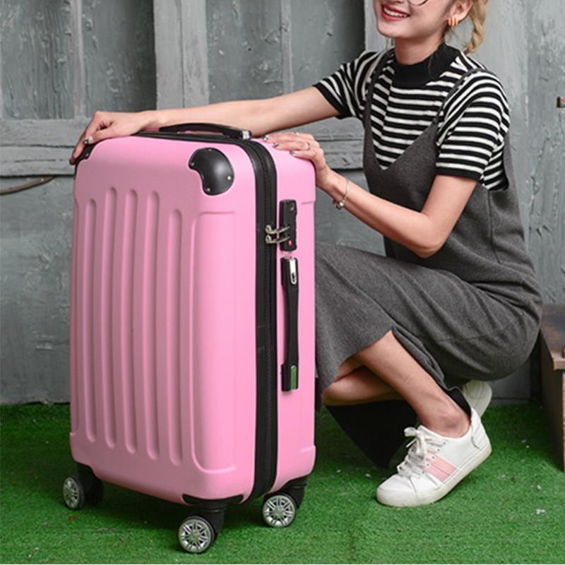 韩版20寸行李箱女学生可爱粉色拉杆箱24寸旅行密码箱小清新登机箱