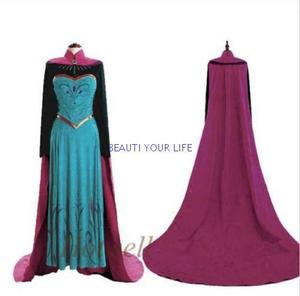 Princess Frozen anna Costume Cosplay Christmas Party Dress