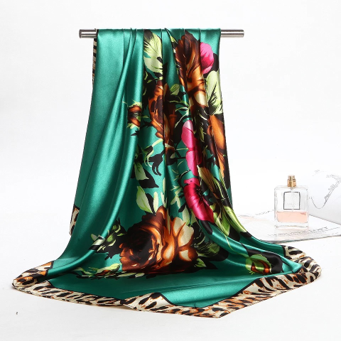 Hangzhou silk scarf factory direct sales female simulation scarf autumn and winter professional shawl scarf overseas gift