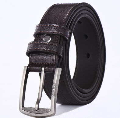 Mens belt pin buckle versatile belt trend dad Korean version middle aged students casual fashion mens trousers young people