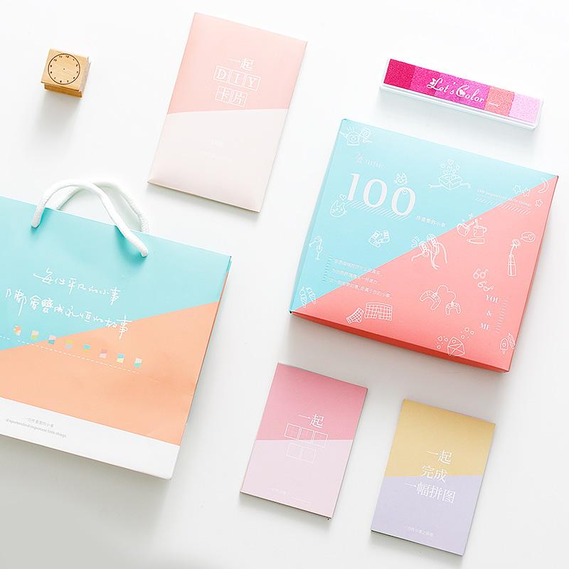 私定情侣必做的100件重要的小事卡送男朋友女友浪漫特别生日礼物