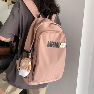 双肩包2020年新款大容量女韩版百搭高中大学生背包简约时尚潮书包图片