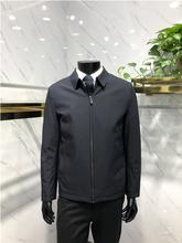 清仓处理品牌专柜款男士翻领中厚保暖纯色棉服外套上衣LENZON领佐