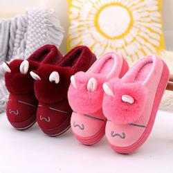 毛托女鞋冬天 室内家居拖鞋冬季可爱家用棉鞋可外穿厚底增高拖鞋