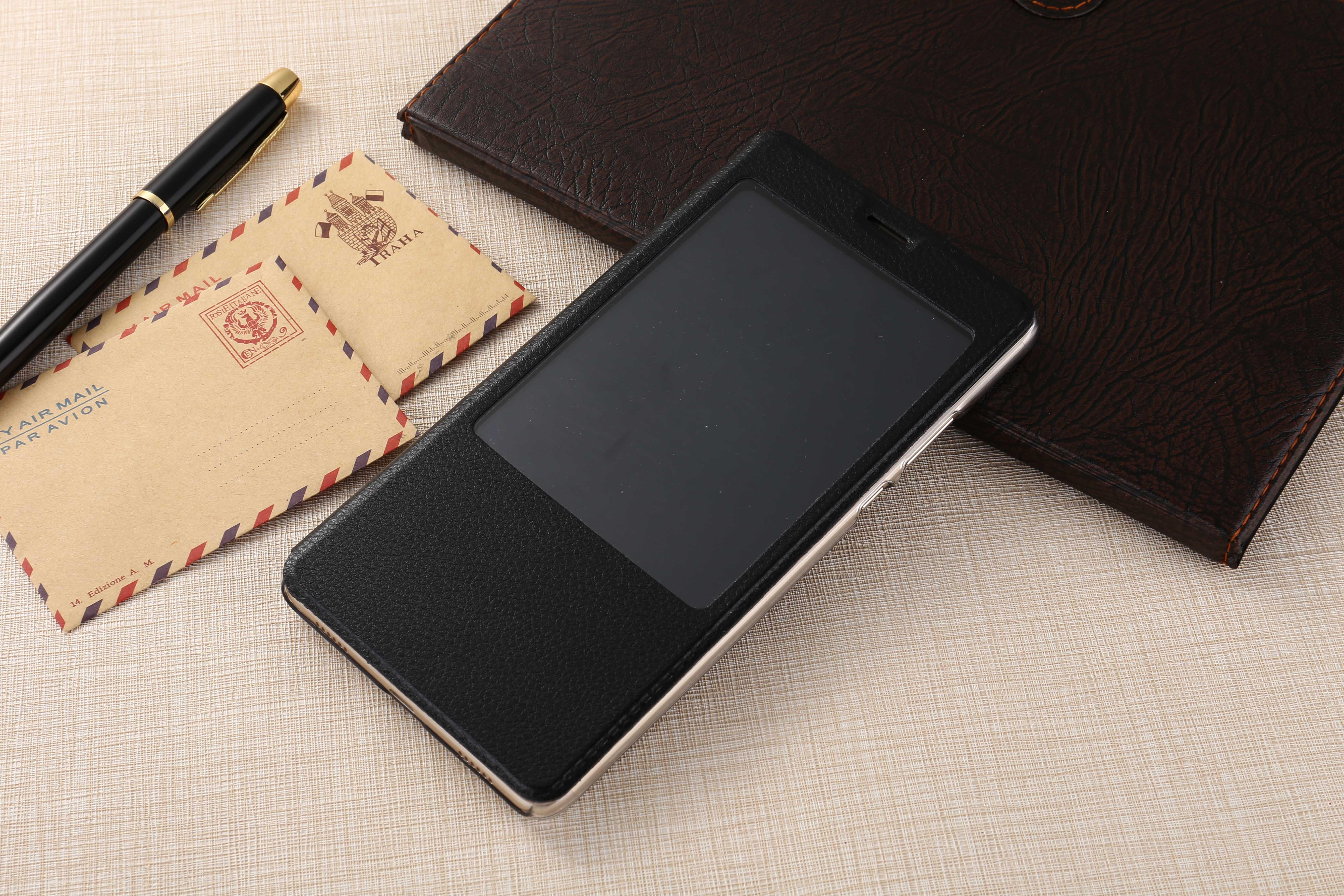 华为荣耀note8手机智能皮套荣耀note8休眠手机壳带支架功能唤醒
