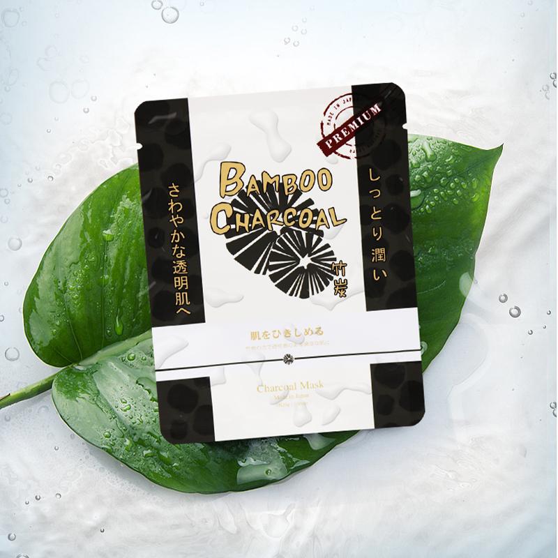 日本Sincere Laura 竹炭精华去黑头清洁保湿面膜6片/盒