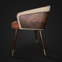 餐椅简约创意网红ins家用北欧餐厅实木椅子皮艺靠背凳子现代休闲