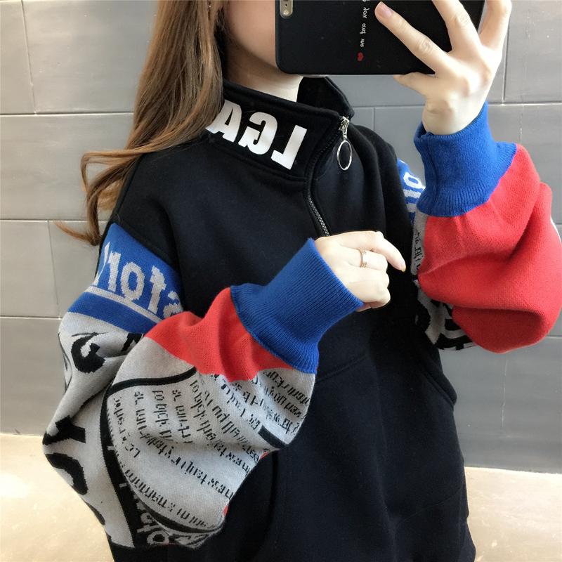 韩版女装2020年新款冬装爆款加绒加厚宽松女士卫衣外套ins潮秋冬