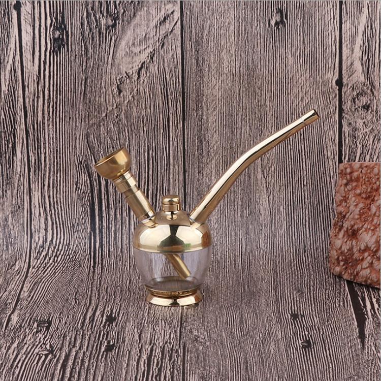纯铜水烟壶全套水烟筒水烟丝烟袋加厚黄铜复古老式水烟斗过滤水烟 Изображение 1