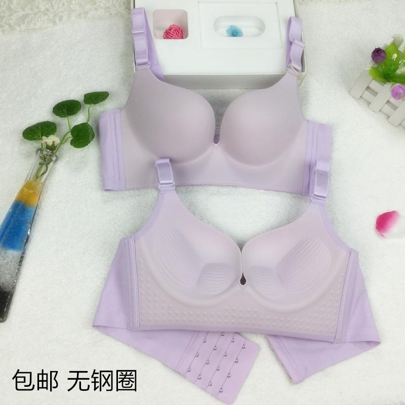 新品深V一片式無鋼圈無痕聚攏夏季上托文胸罩厚薄款調整型內衣女