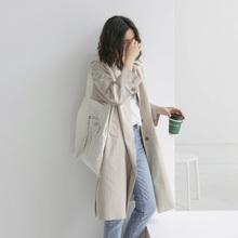 风衣女中长款春秋2020新款小个子大衣韩版宽松百搭矮个子外套ins