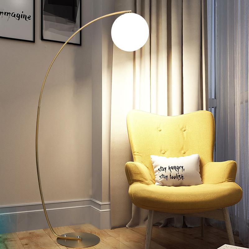 落地灯客厅金色钓鱼灯简约现代书房北欧个姓创意沙发卧室装饰地灯