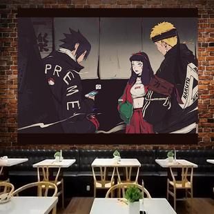 日式动漫火影忍者背景布ins挂布墙布背景墙床头卧室墙面墙壁挂毯