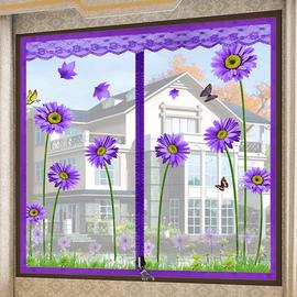 防蚊纱窗纱网自粘型窗户门帘魔术贴沙窗磁性磁铁窗帘自装隐形家用图片