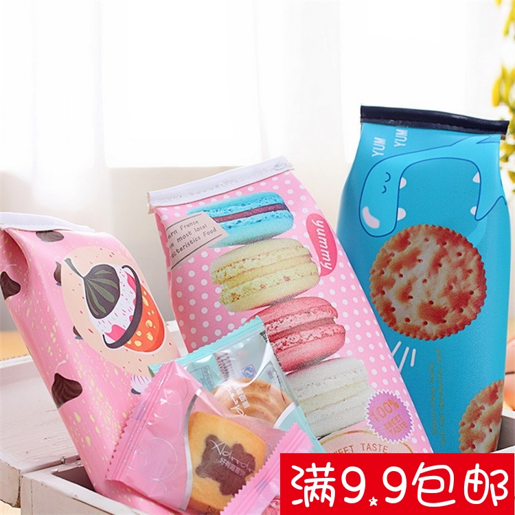 Japan and South Korea stationery pencil case pencil case stationery creative simulation cracker high school students pack school supplies wholesale