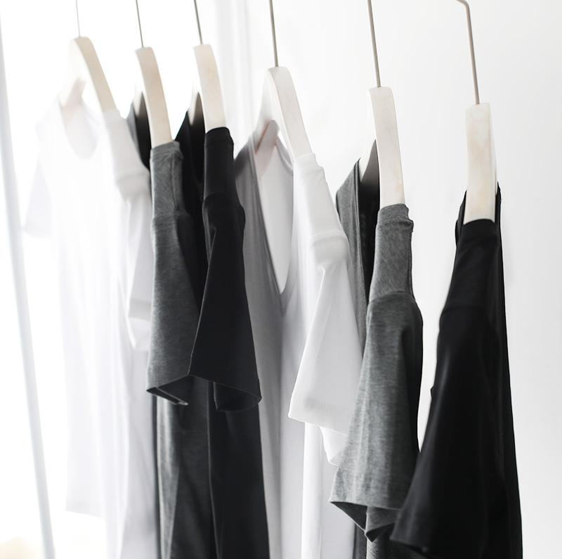 日本JIN口100支双面丝光棉T恤女纯棉纯色短袖夏季百搭高阶通勒