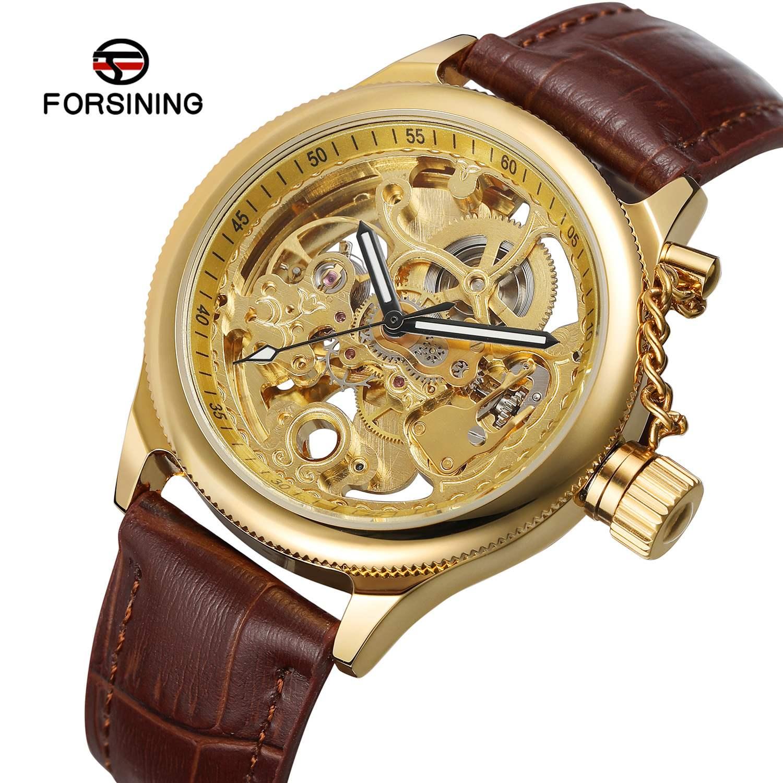 New hot products forsing waterproof mechanical watch mens fashion punk style automatic mechanical watch