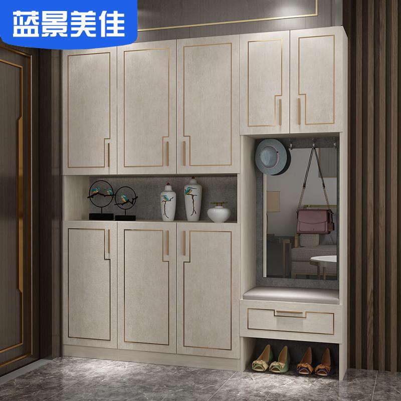 鞋柜定制家用进门口储物柜子简约现代门厅柜多功能玄关轻奢大容量