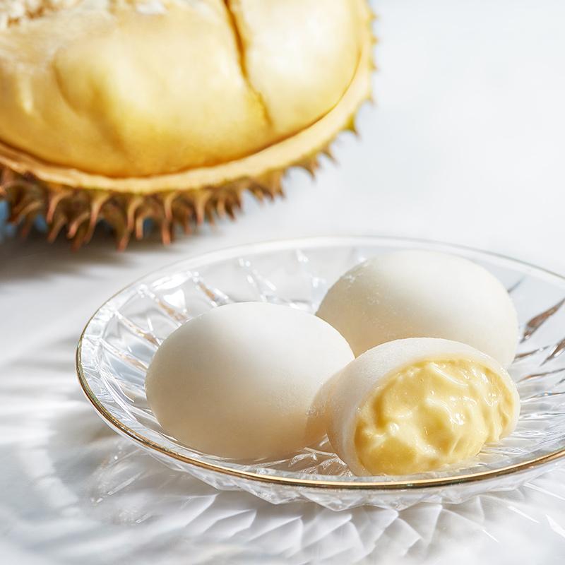 榴莲一刻榴莲泡泡网红大福零食雪媚娘日本糯米糍榴莲麻薯甜品糕点