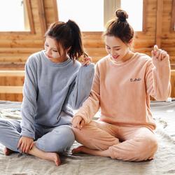 仙女暖暖裤套装2020加绒加厚睡衣
