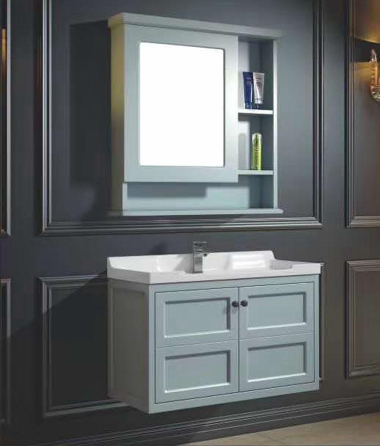 特惠北欧美式家装主材卫生间PVC浴室柜一体陶瓷洗脸盆洗漱台厕所