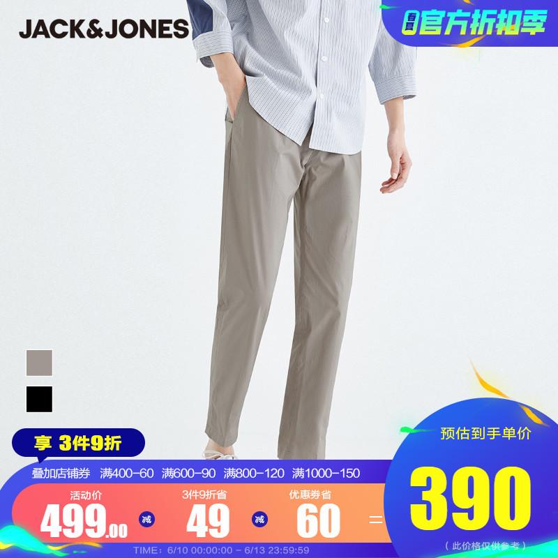 JackJones杰克琼斯夏男潮流休闲微弹基础款舒适休闲裤221214034