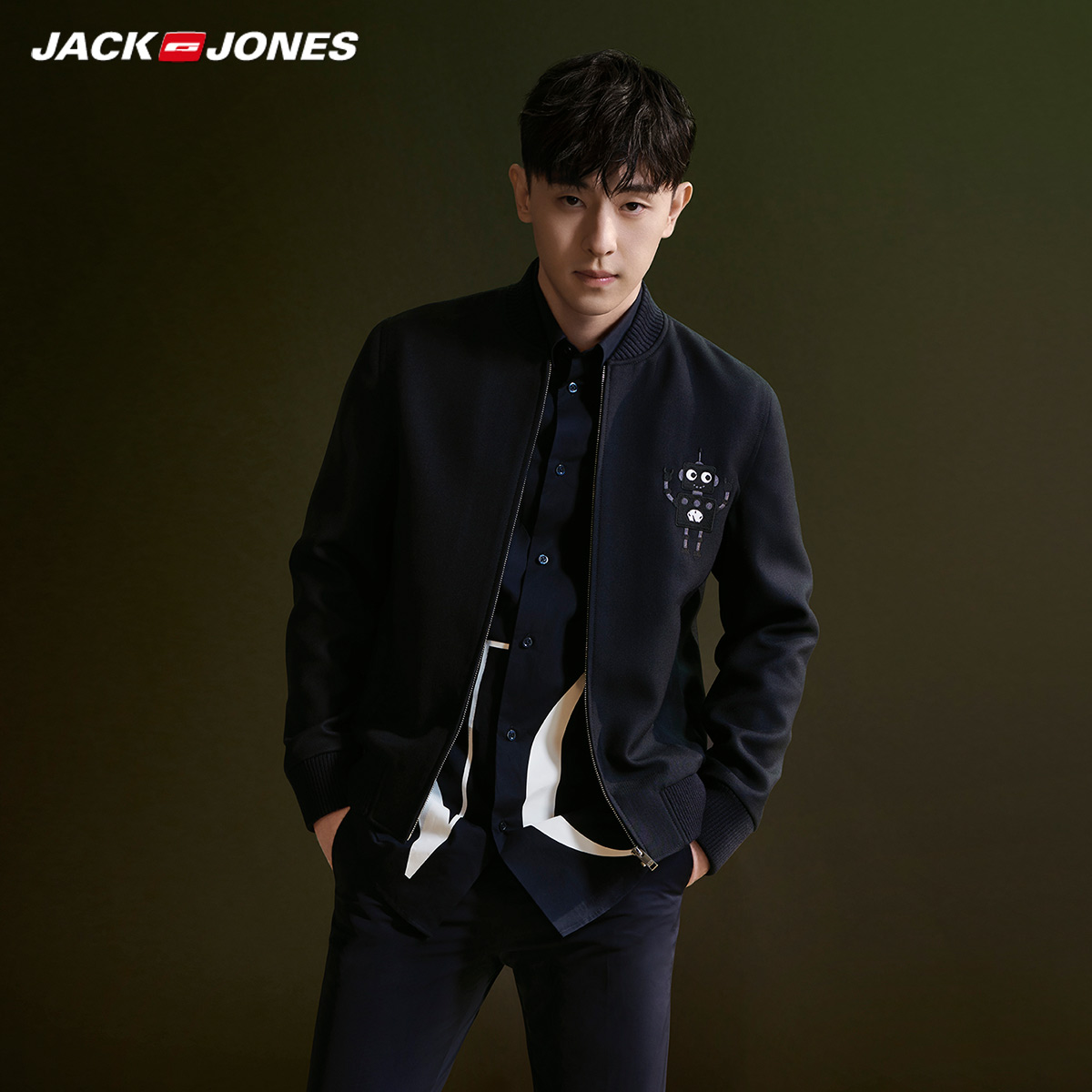 Dunlon same wool jacket jacket jacket for men with wool Korean bomber jacket Jack Jones 220127505