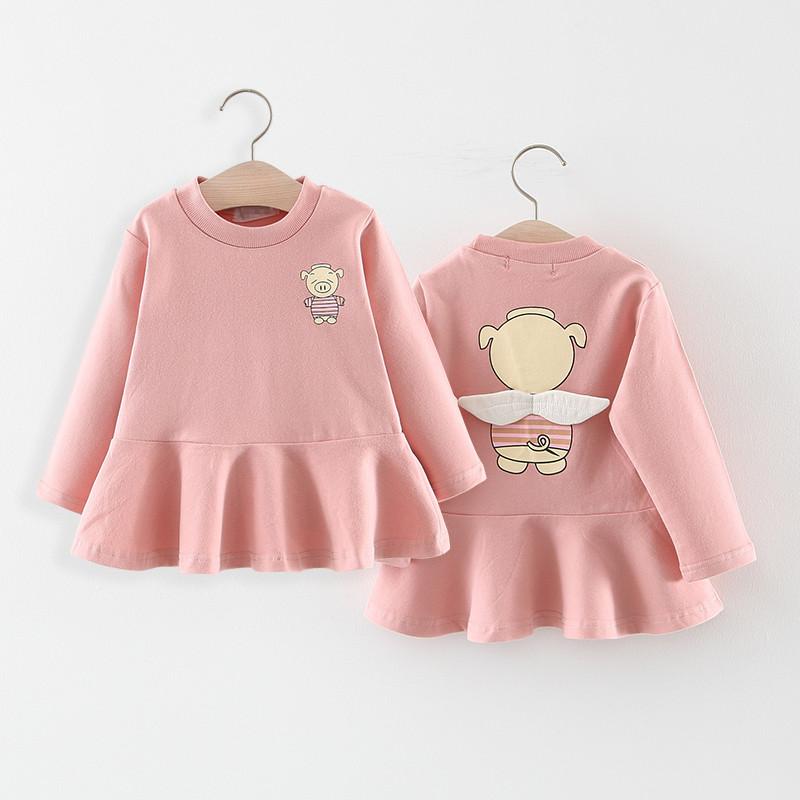 (用42.1元券)连衣裙春秋季儿童小女孩长袖卫衣裙
