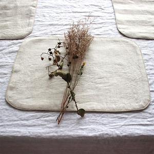 欧式法国纯麻布艺双面条纹西餐垫 亚麻居家餐巾垫隔热餐厅桌垫